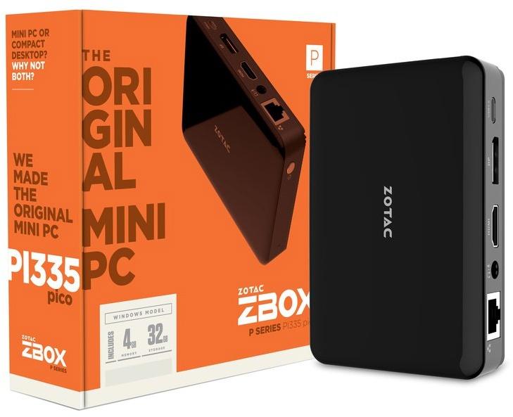 Конфигурация Zbox PI335 Pico включает 4 ГБ оперативной памяти LPDDR3