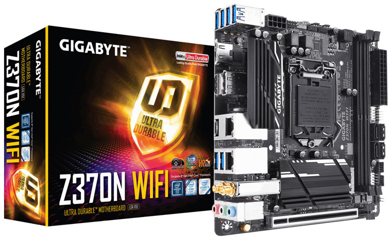 Представлена системная плата Gigabyte Z370N WIFI типоразмера mini-ITX