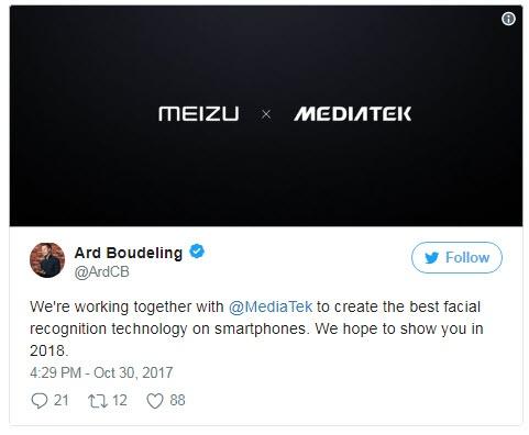 Meizu и MediaTek обещают показать лучшую технологию распознавания лиц в 2018 году