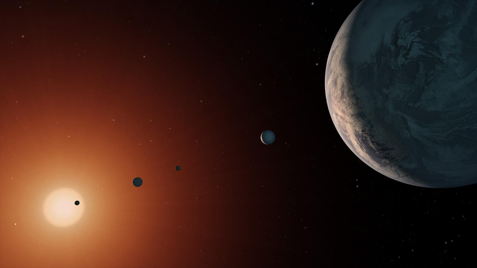 Планеты в обитаемой зоне системы TRAPPIST-1 могут быть раскалены из-за магнитного поля своей звезды - 3