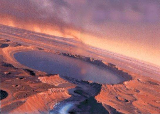 На Марсе расположен кипящий океан