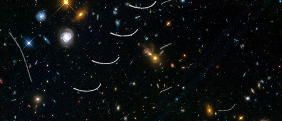 Несколько астероидов сделали «фотобомбу» для Hubble, помешав сфотографировать удаленные галактики - 1