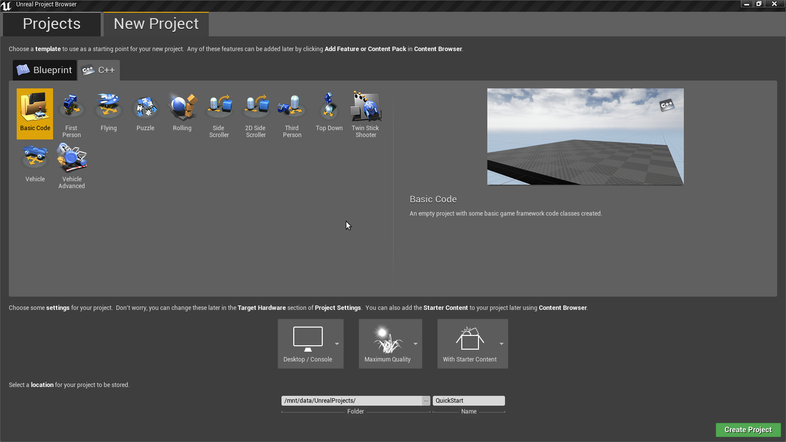 Unreal Engine: QuickStart в Qt Creator под Arch Linux - 2