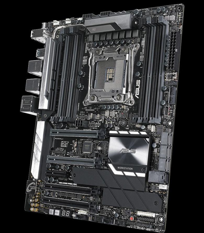 Возможности сетевого подключения в Asus WS X299 Pro SE обеспечены наличием двух портов Gigabit Ethernet