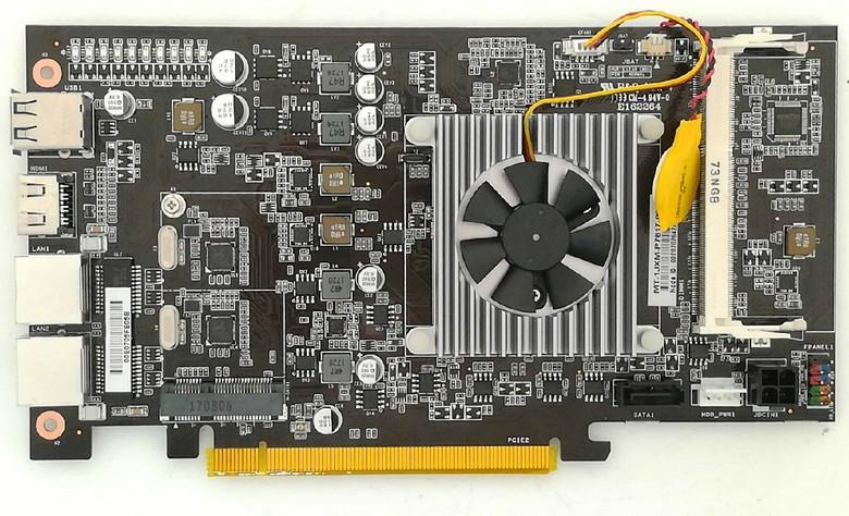 Плата Colorful C.J1900A-BTC PLUS V20 включает в себя две части