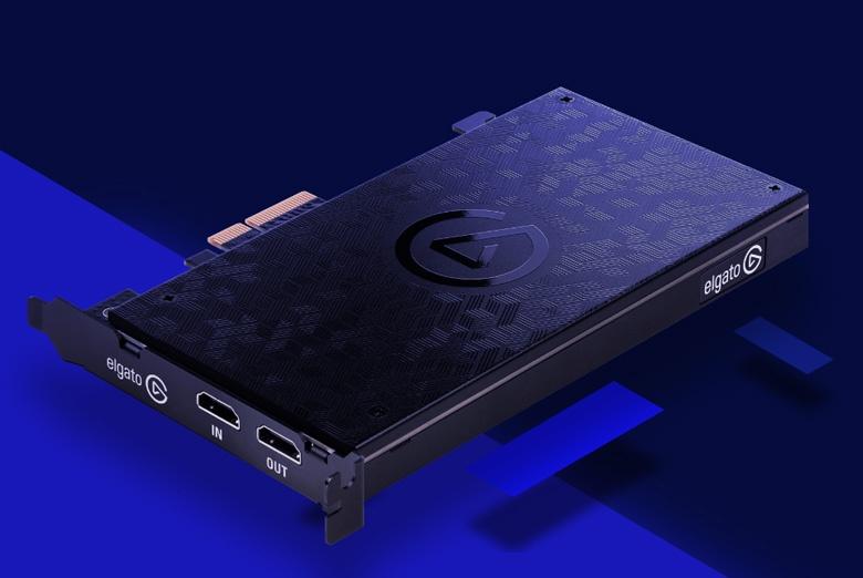 Карта видеозахвата Elgato Game Capture 4K60 Pro поддерживает видео 4K с кадровой частотой 60 к/с
