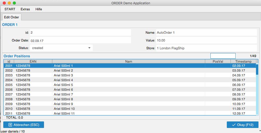ORDER Demo App