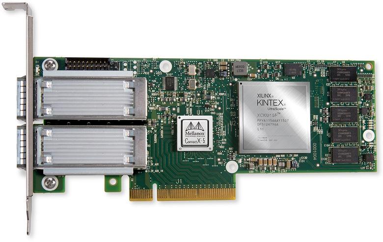 Основой Innova-2 служит FPGA Xilinx UltraScale и сетевой адаптер ConnectX-5, поддерживающий скорости до 100 Гбит/с