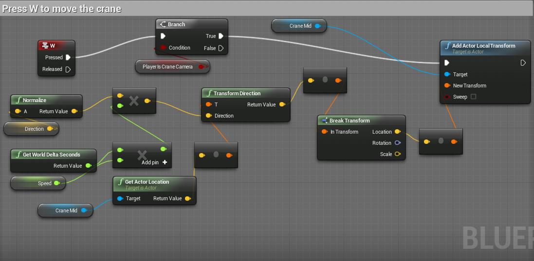 UE4 Blueprint logic