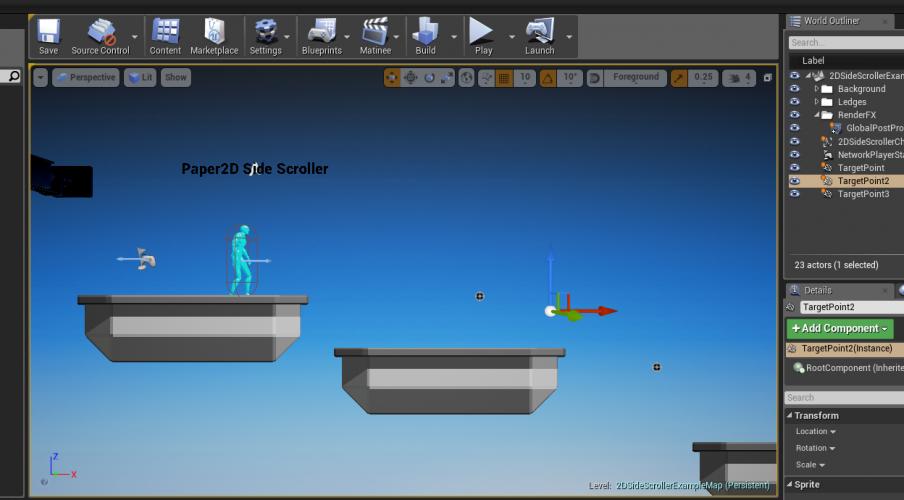 UE4 2D Side Scroller