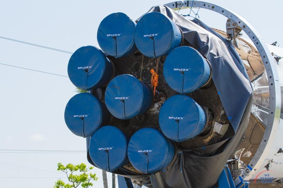 Новая версия двигателя Merlin для Falcon 9 взорвалась во время испытаний - 2