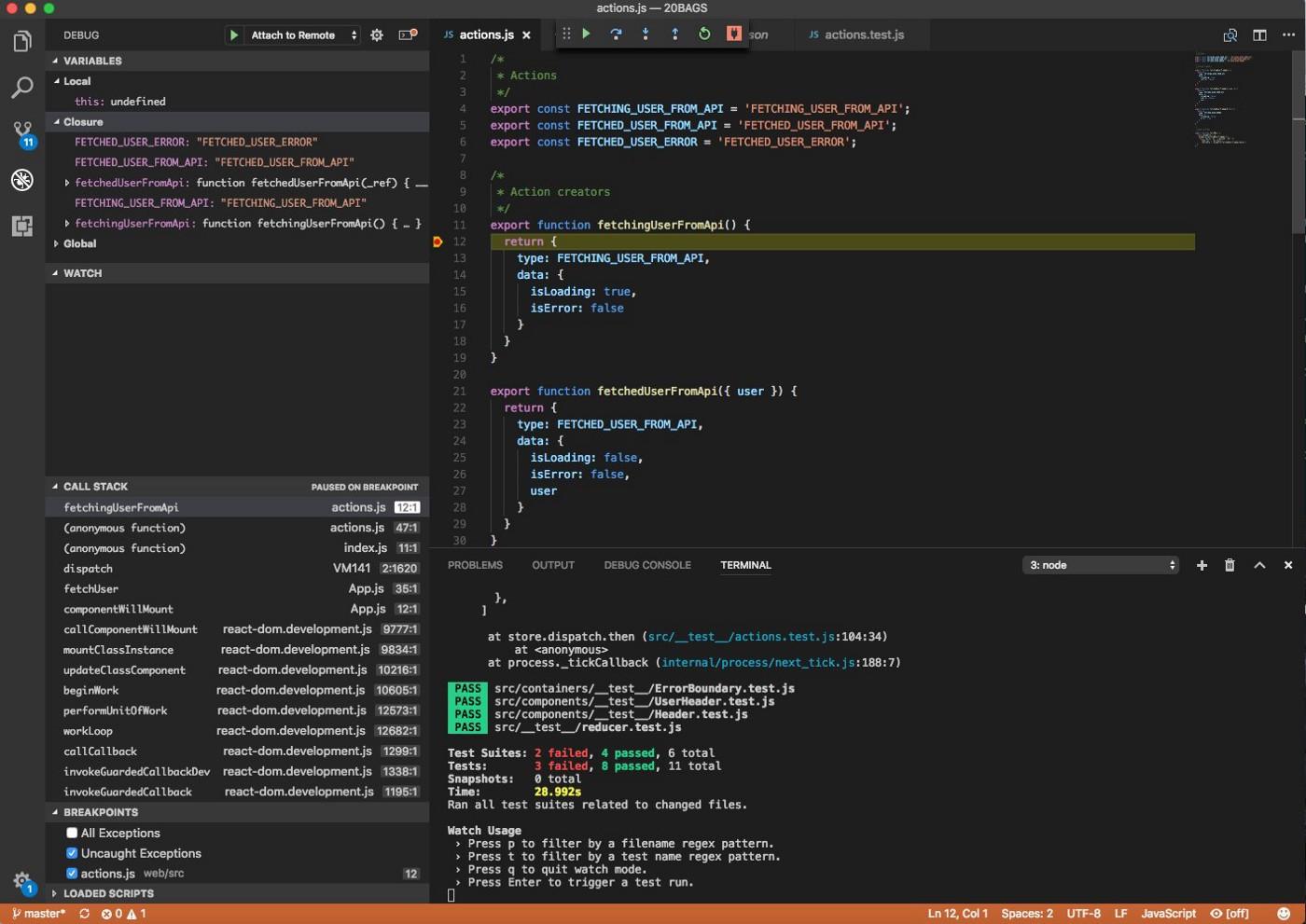 Отладка React-приложений в VS Code - 2
