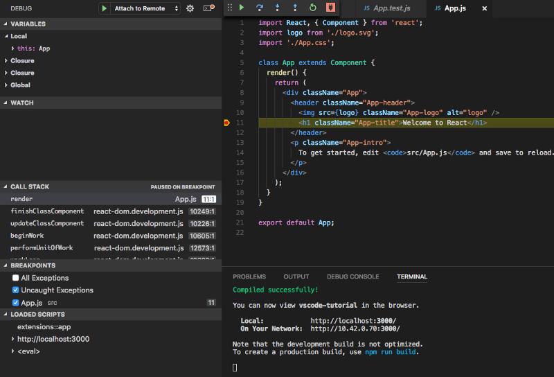 Отладка React-приложений в VS Code - 8