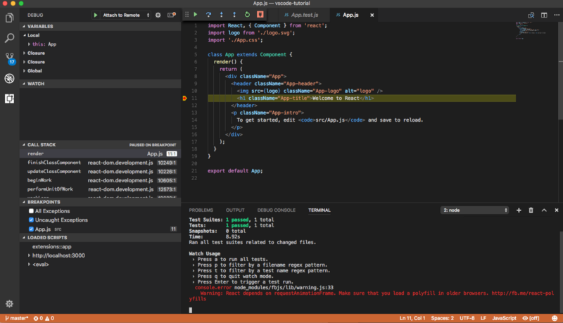Отладка React-приложений в VS Code - 9