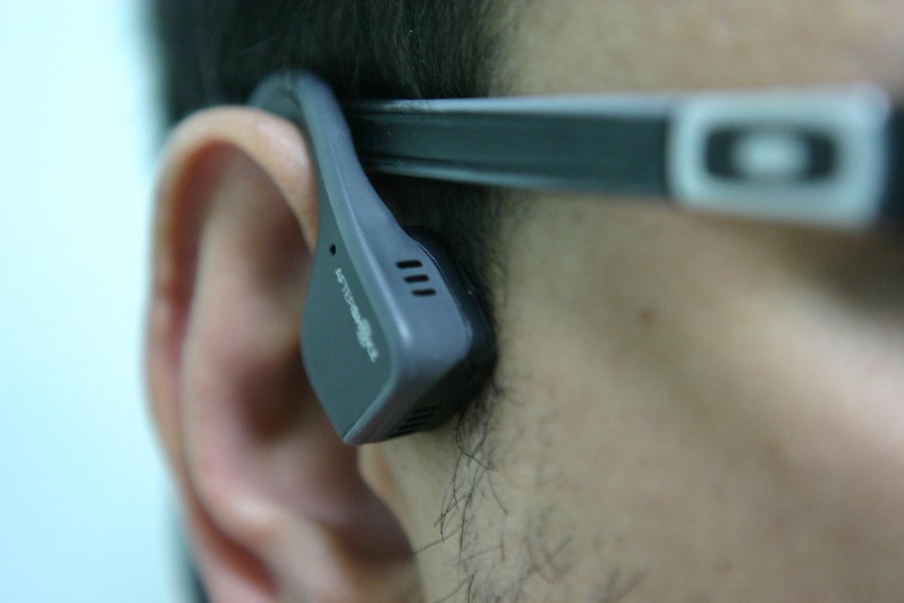 Утечка звука в наушниках с костной проводимостью на примере Aftershokz Trekz Titanium - 14