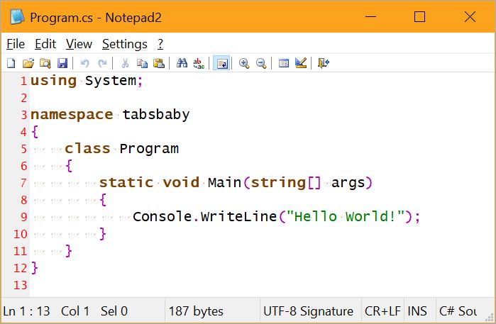 Знаки табуляции или пробелы: решаем с помощью Visual Studio - 3