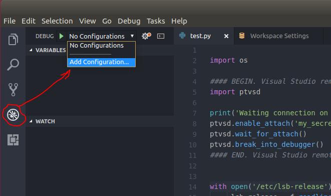 Запуск-отладка Python скриптов в контейнерах LXC-LXD из под VS Code - 5