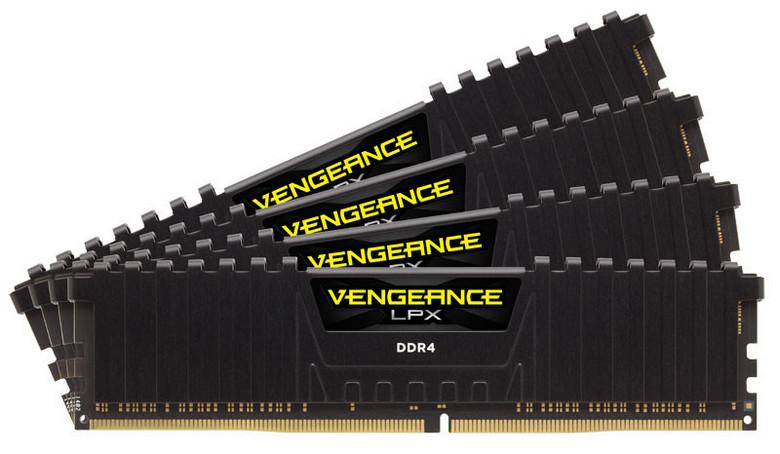 Оперативная память Corsair Vengeance LPX CMK32GX4M4K4333C19 работает на высокой частоте