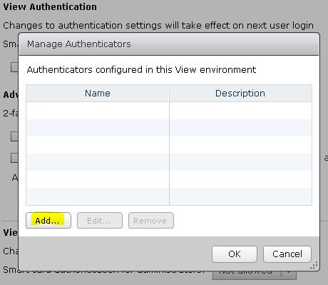 Настройка двухфакторной аутентификации в VMware Horizon View 7 c использованием OTP и сервера JAS - 6
