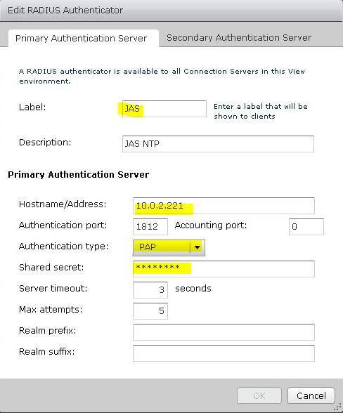 Настройка двухфакторной аутентификации в VMware Horizon View 7 c использованием OTP и сервера JAS - 7