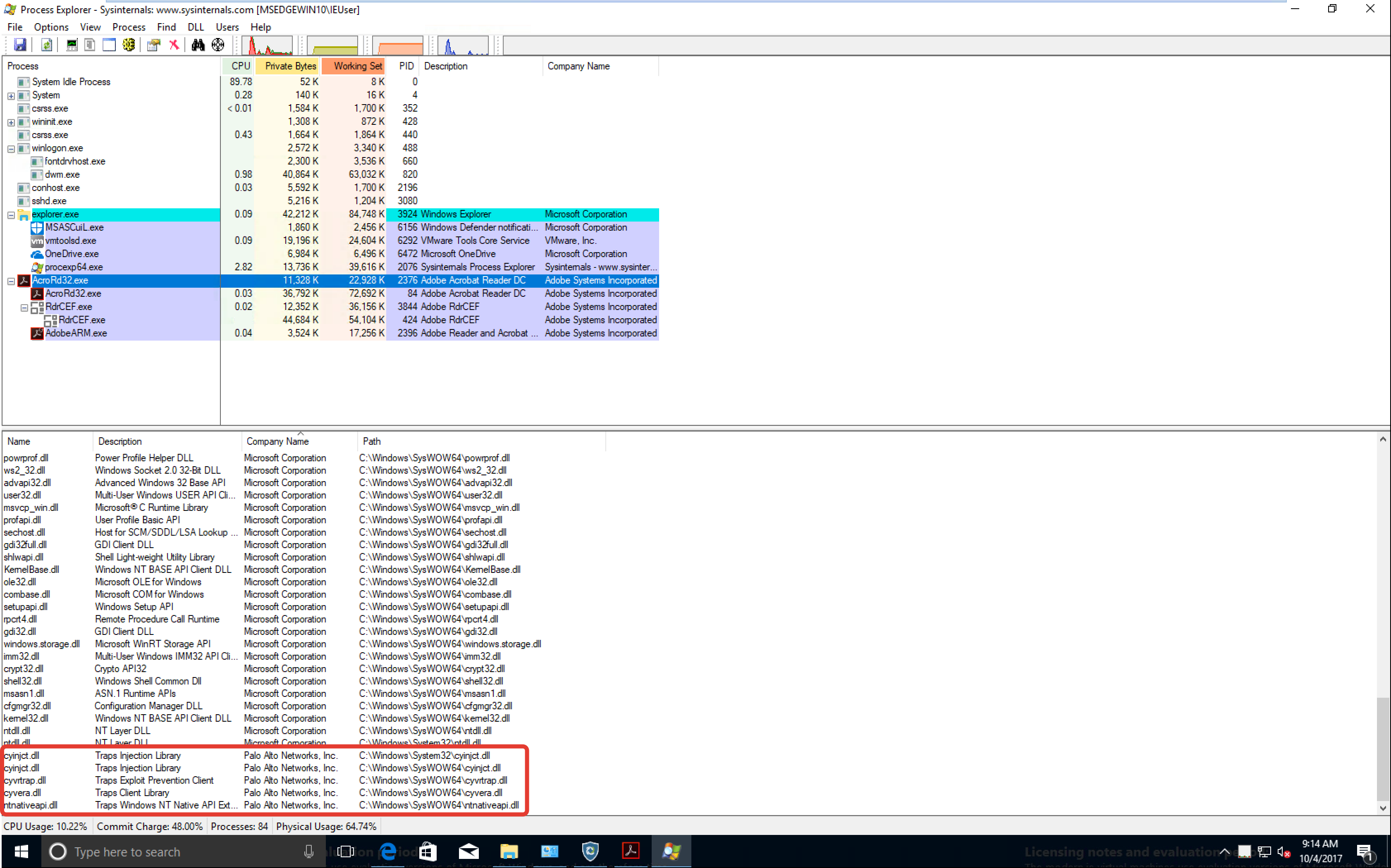 Играем с Nextgen-антивирусом от Palo Alto Networks: он инжектирует свои dll в исполняемые процессы типа *.exe - 2