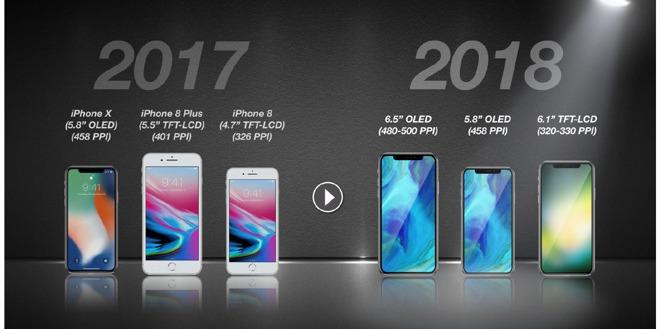 В 2018 году выйдет три новых iPhone
