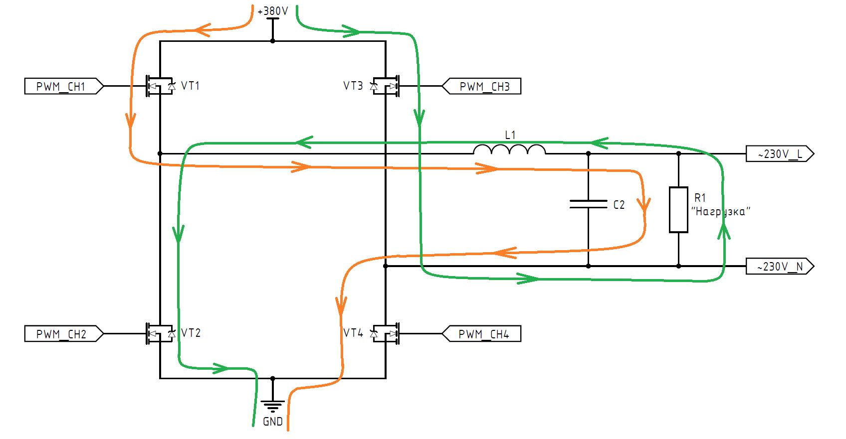 DC-AC инвертор: принцип работы, схемотехника, встроенное ПО - 19