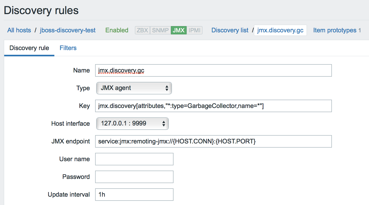 Новые возможности мониторинга Java приложений в Zabbix 3.4 - 18