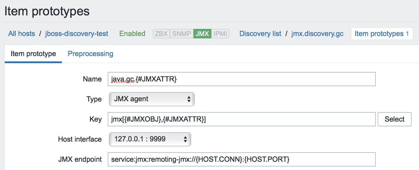 Новые возможности мониторинга Java приложений в Zabbix 3.4 - 20