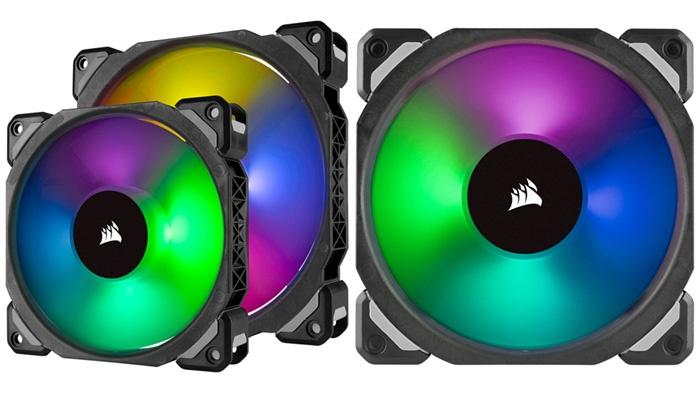 Серия Corsair ML PRO RGB включает вентиляторы типоразмера 120 и 140 мм