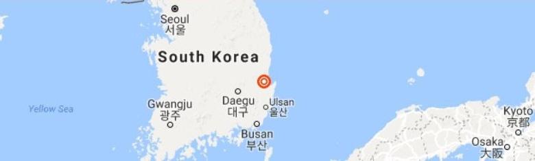 Землетрясение магнитудой 5,4 произошло вчера в юго-восточной части полуострова