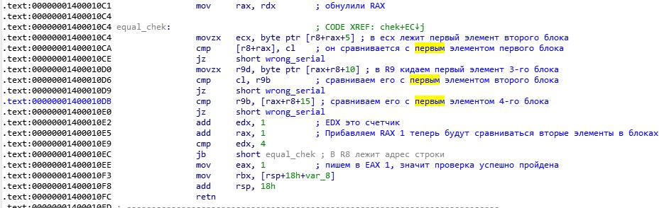 Подробный разбор решения crackme01_x64 - 12