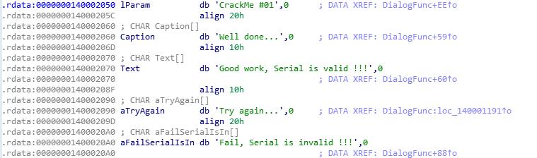 Подробный разбор решения crackme01_x64 - 2