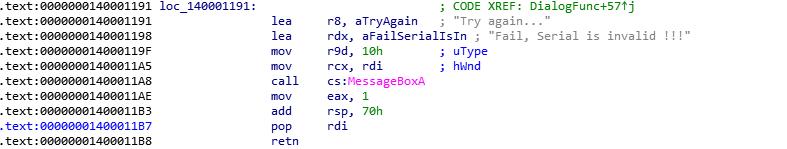 Подробный разбор решения crackme01_x64 - 3