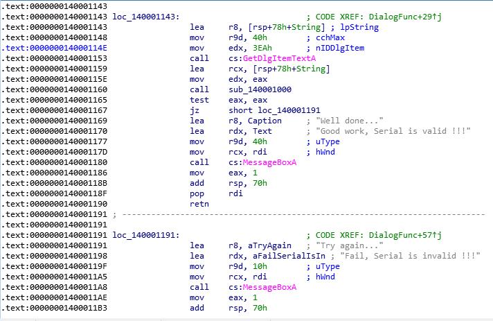 Подробный разбор решения crackme01_x64 - 4