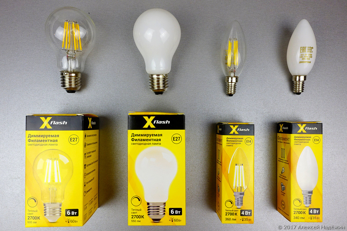 Новые филаментные светодиодные лампы X-Flash - 1