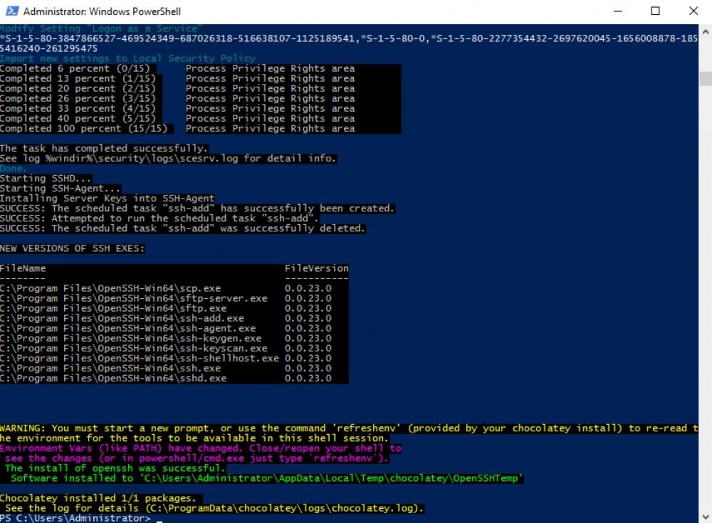 Управляем Windows Server по SSH в облаке Azure Pack Infrastructure - 7