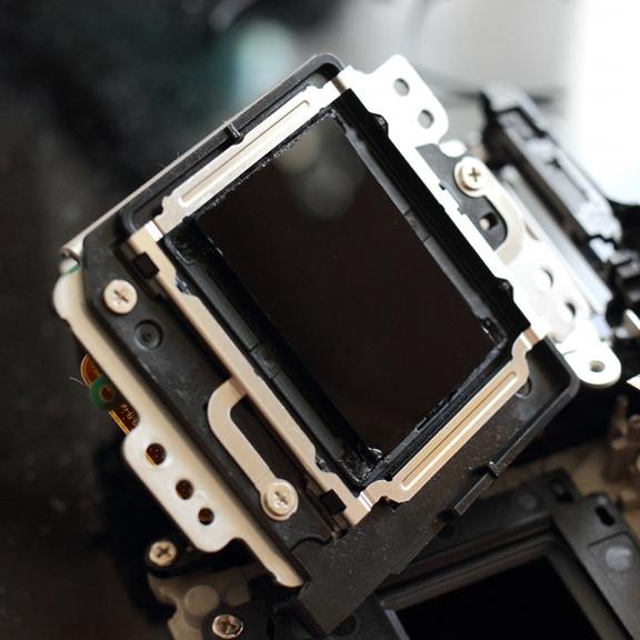 Модуль матрицы Canon EOS M с установленным ИК-фильтром