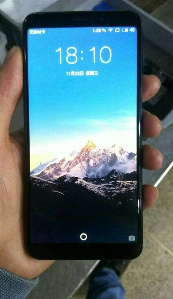 Опубликованы фотографии «полноэкранного» смартфона Meizu m1712, оснащенного боковым дактилоскопическим датчиком