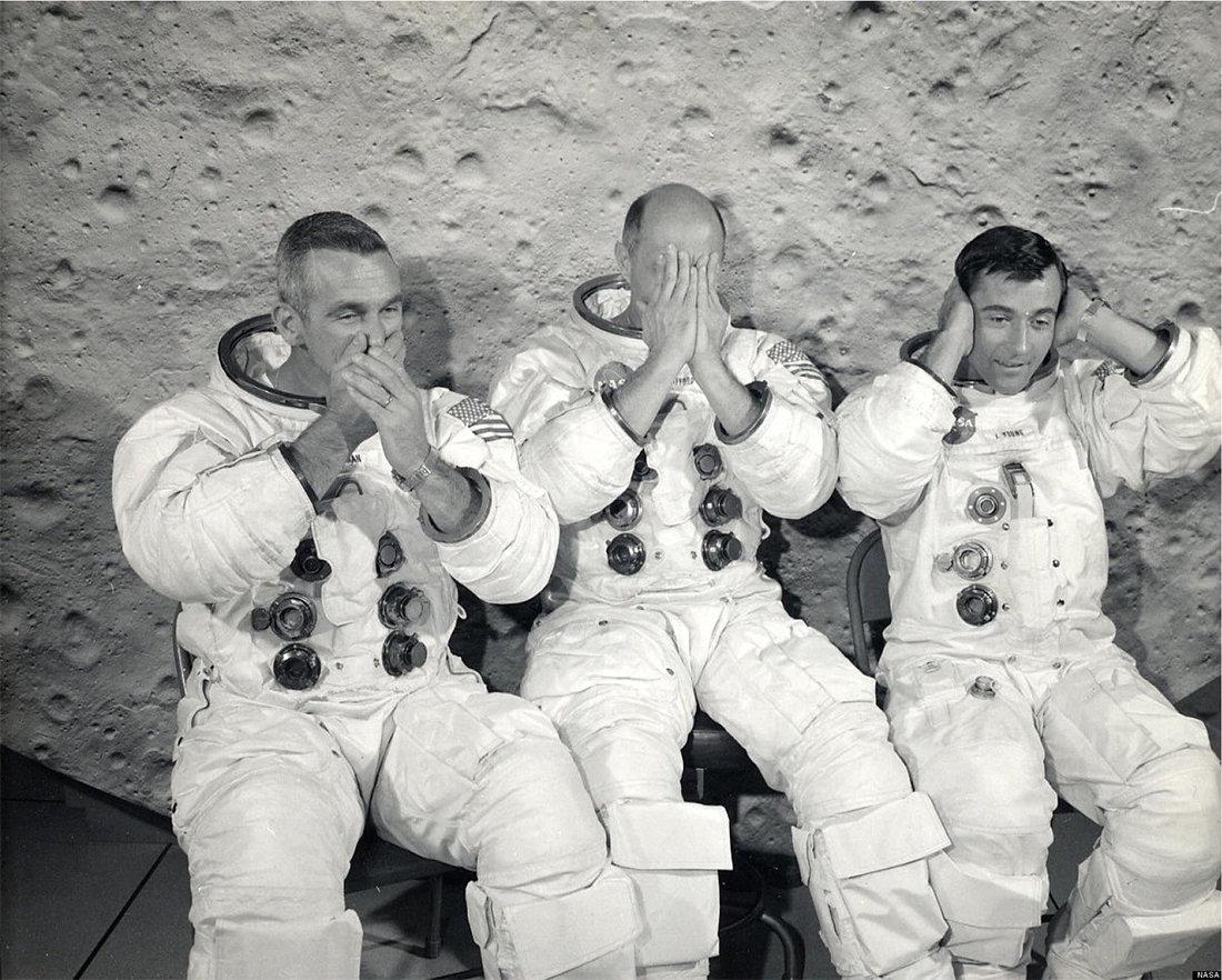 Космический вандализм и юмор в программе «Аполлон» - 1