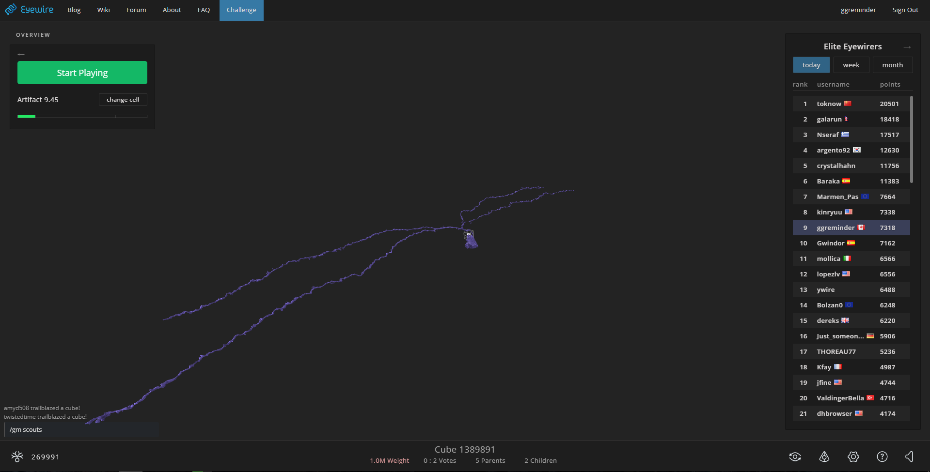 EyeWire — игра по моделированию мозга - 1