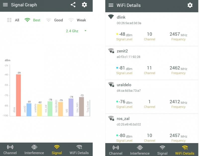 Немного об анализаторах Wi-Fi покрытия на Android - 10