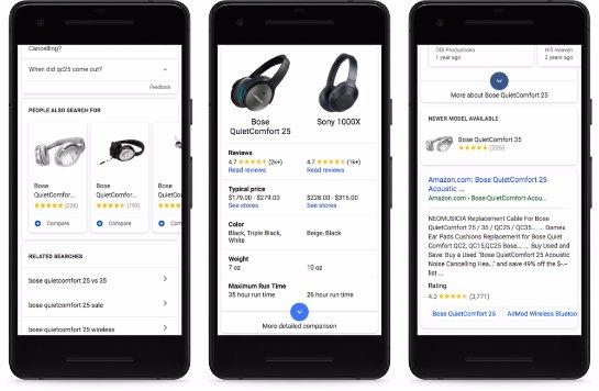 Google Shopping становится очень похожим на Amazon