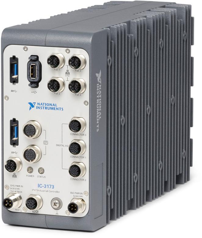 Степень защиты IP67 позволяет использовать NI IC-3173 в достаточно суровых условиях