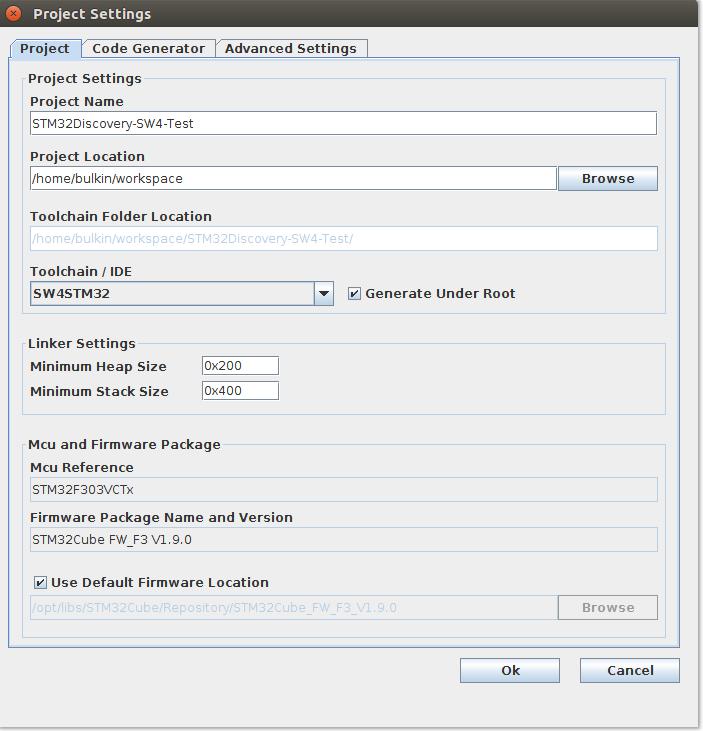 Настройка Sublime Text 3, SW4 и STM32CubeMX для разработки STM32 под Linux - 8