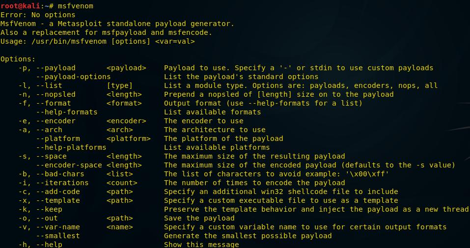 О создании пэйлоадов для разных платформ с помощью msfvenom - 2