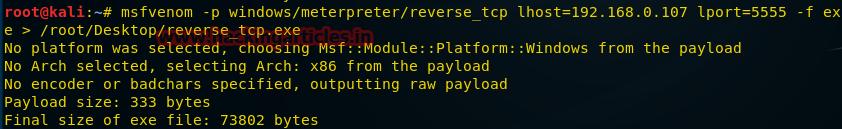 О создании пэйлоадов для разных платформ с помощью msfvenom - 5